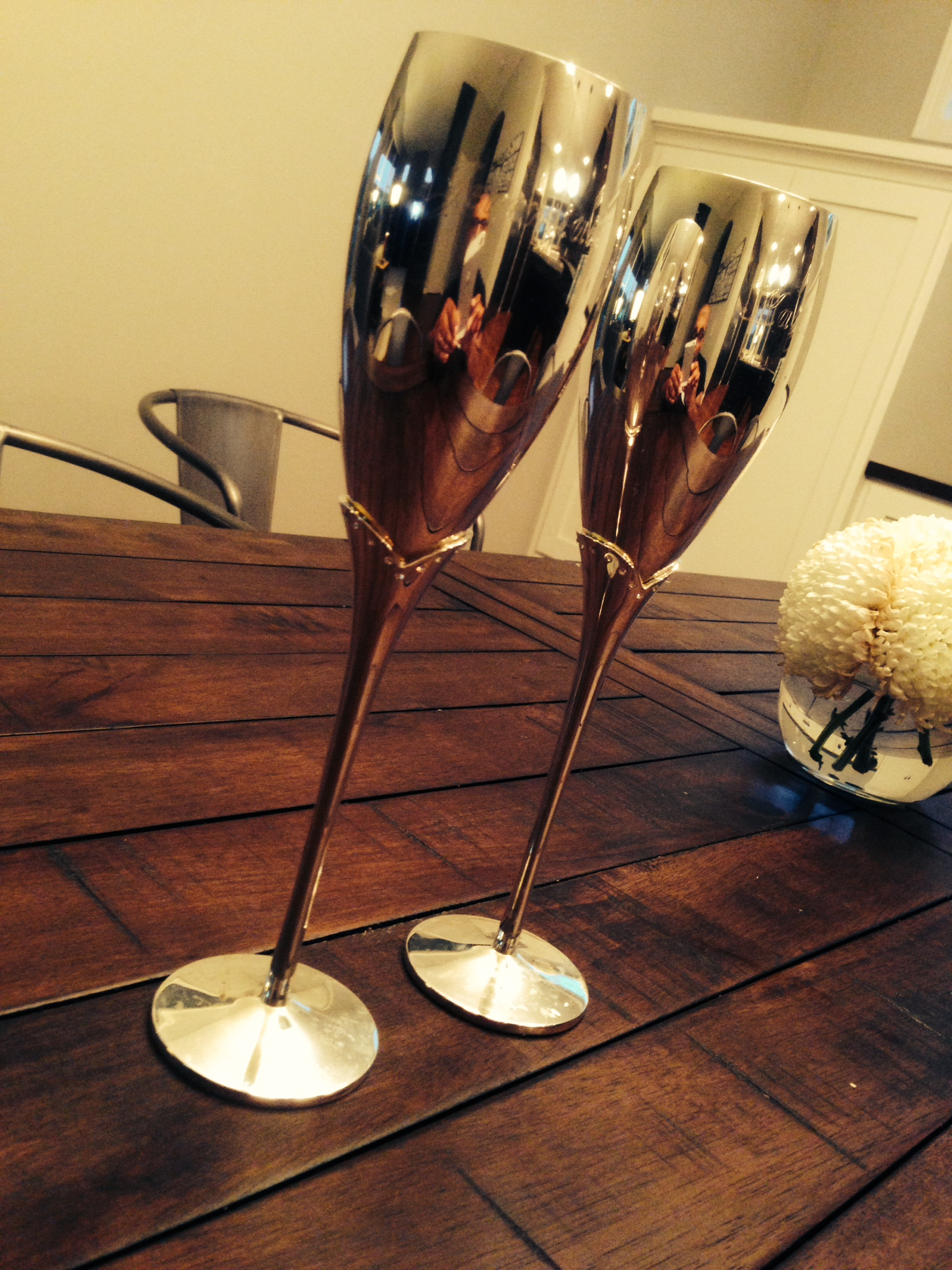One last toast with our wedding goblets.