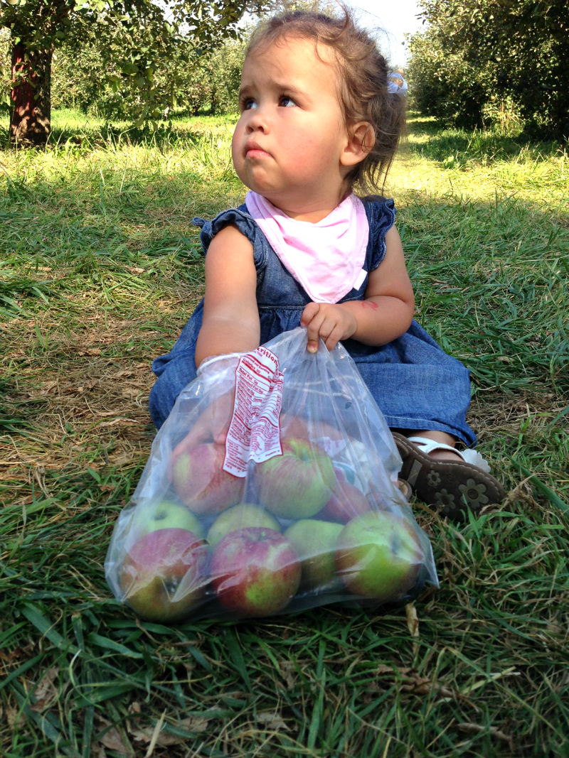 emmy and her apple bag