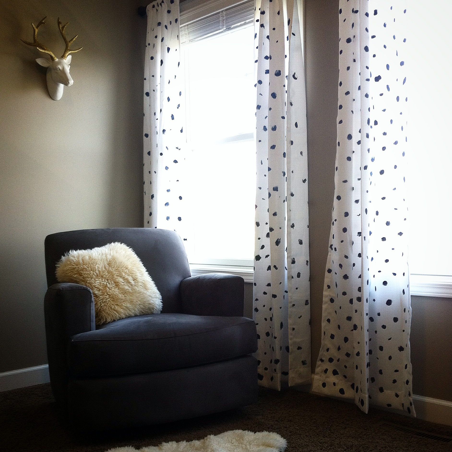 spotted curtain