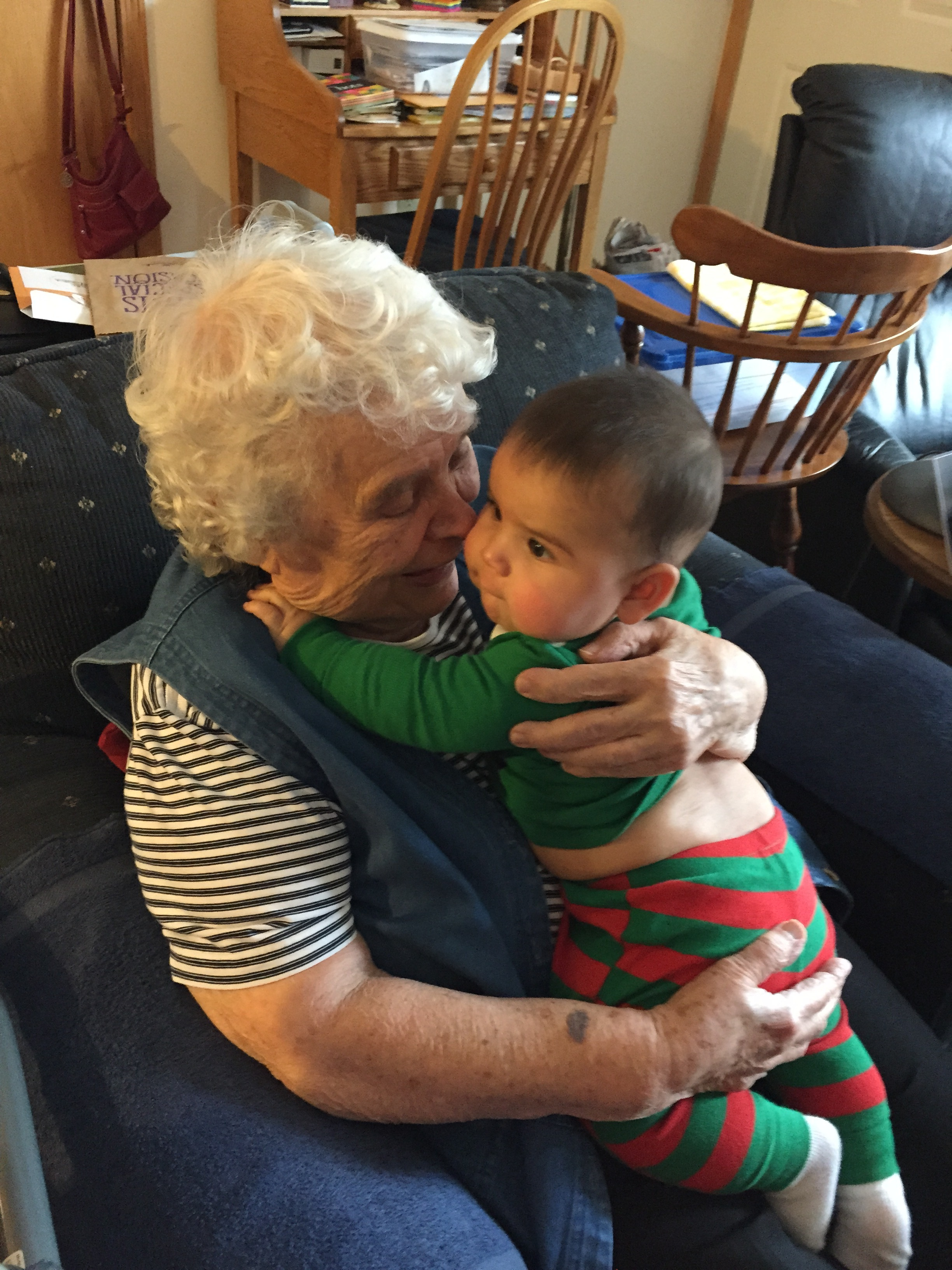 "I LOVE this picture of my cute grandma, ""Mimi"" with Max. The love radiates."