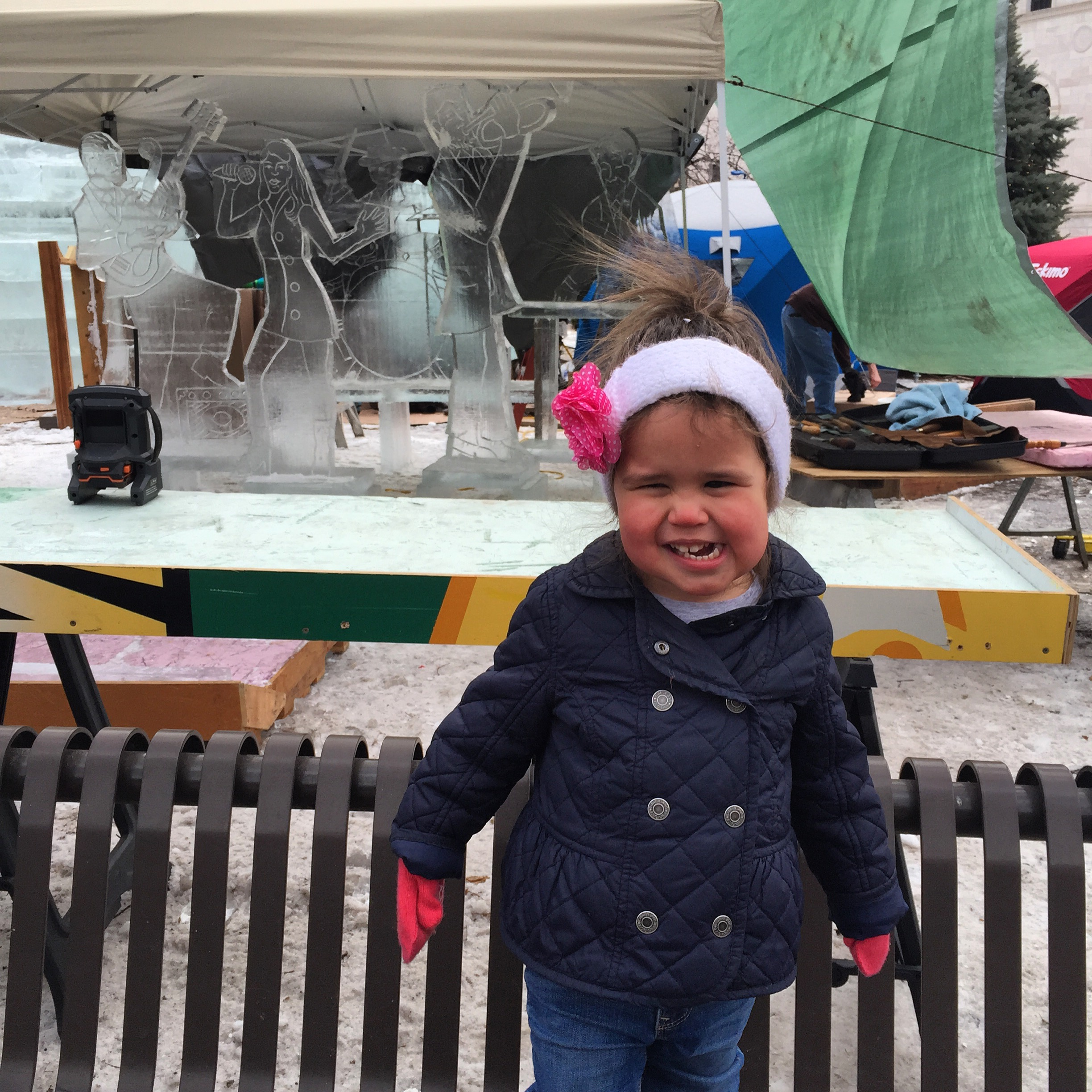 We went to check out the ice sculptures at the Winter Carnival in St Paul.
